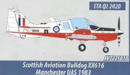 AV7225010 - 1/72 SCOTTISH AVIATION BULLDOG XX616 MANCHESTER UAS 1983